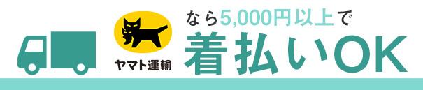 ヤマト運輸なら5,000円以上で送料無料